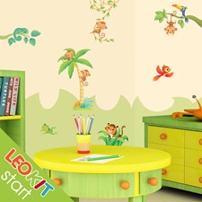 adesivo murale bambino stickers LeoKit start Foresta Tropicale